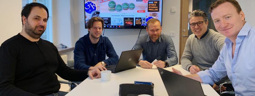 Snusbolagets Janne Kalian, Johan Hansson, Jonas Kolehmainen, Anders Signell och Gavin O´Dowd