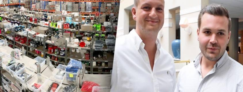 Proteinbolagets grundare Mårten Åkeson och Adam Gillberg